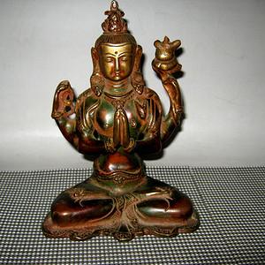 清代藏传铜佛