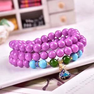 珠宝届新宠,美国紫云母圆珠