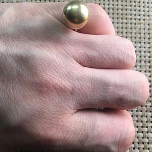 14K金 金泡子 戒指