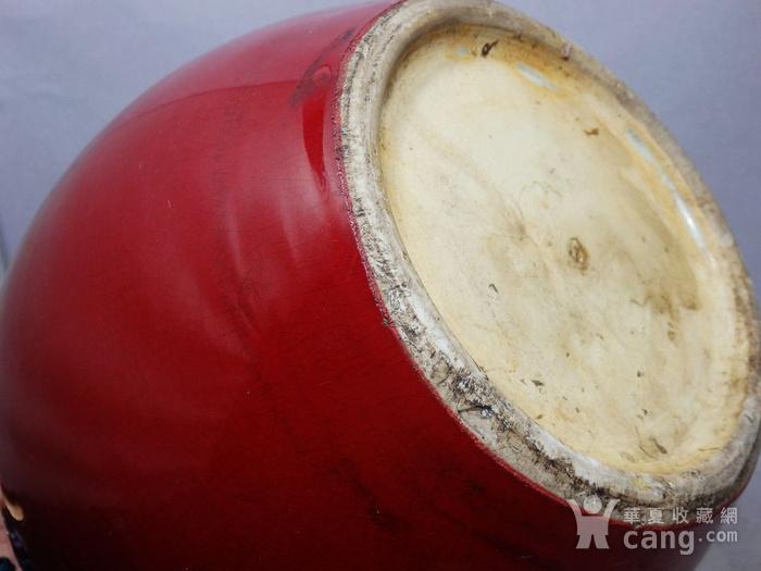 清代红釉盖罐图6
