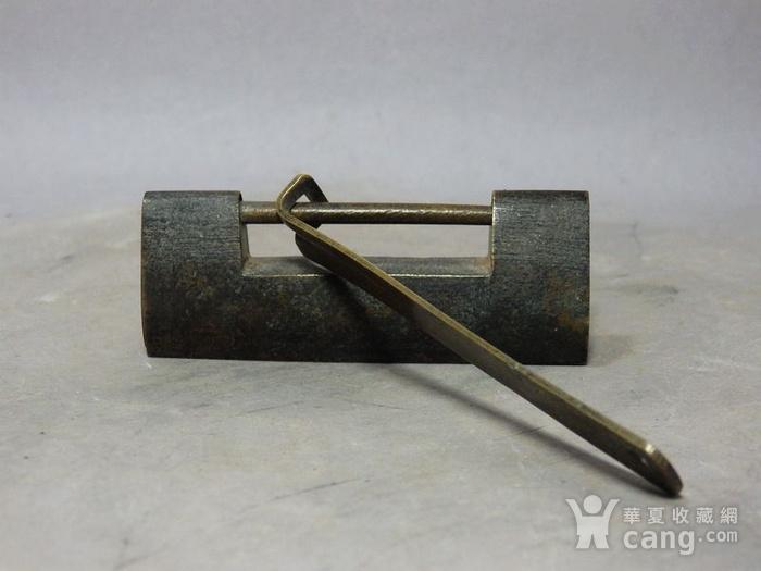 清代铜制素面锁图2
