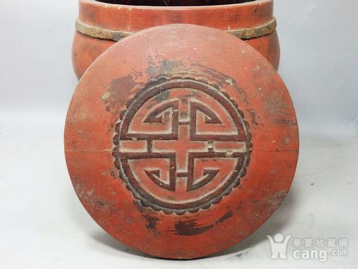 清代木质雕花桶图3