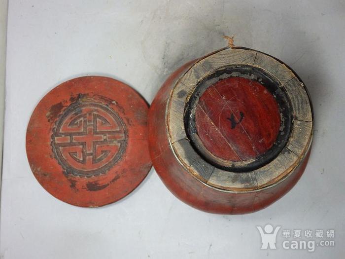 清代木质雕花桶图5