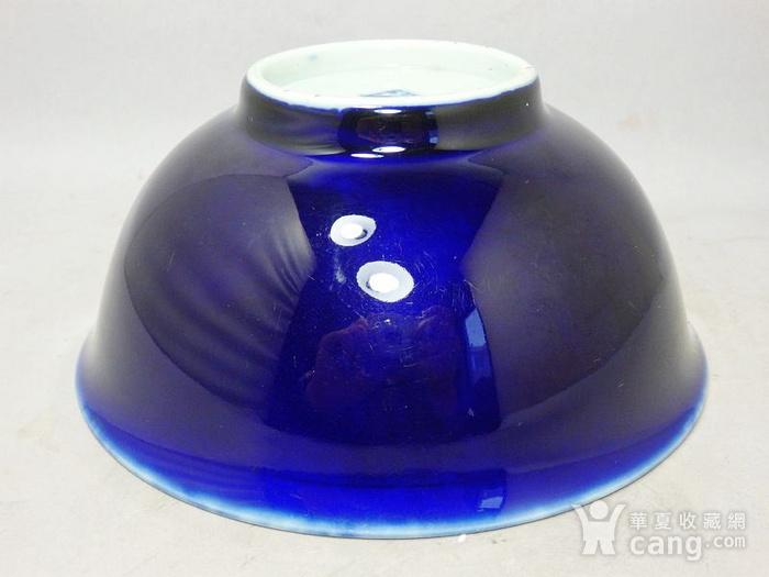 清代霁蓝釉大碗图2