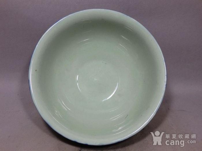 清代霁蓝釉大碗图4