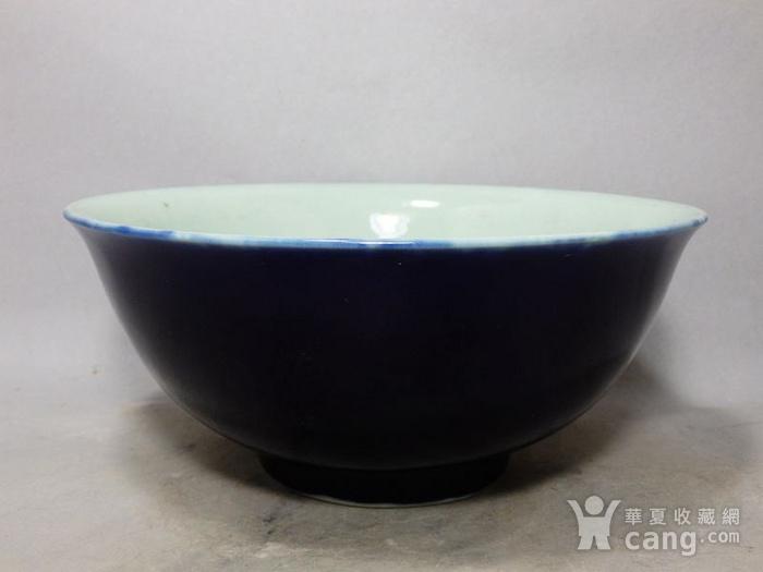 清代霁蓝釉大碗图7