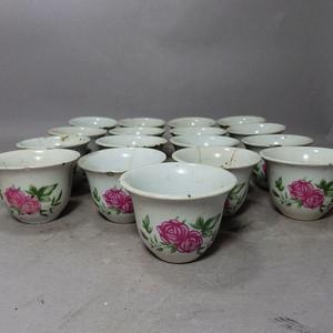 文革时期花卉杯17个