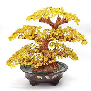 新做一批花开富贵水晶发财树!