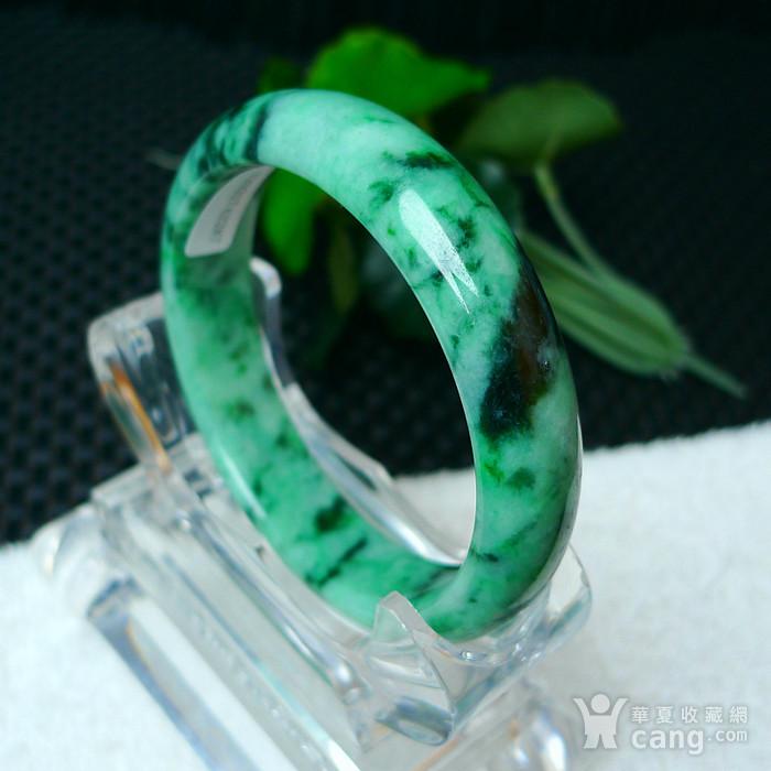 冰润满绿宽边手镯图6