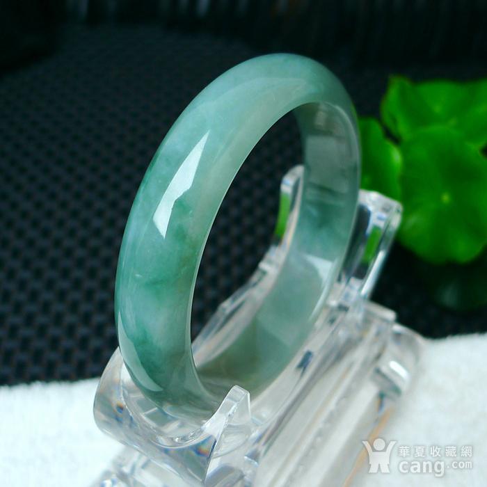 冰润绿宽边手镯图7