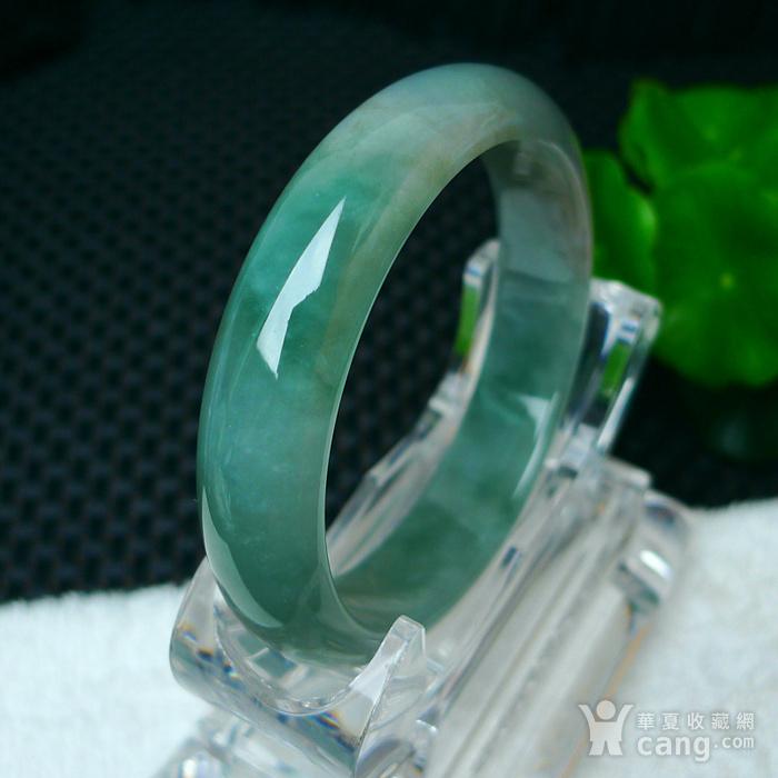 冰润绿宽边手镯图8