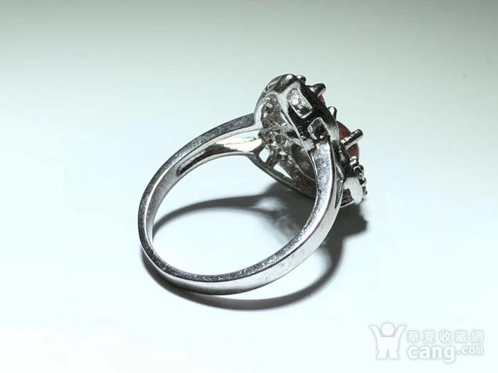 精品 天然 碧玺 葫芦形 戒指 纯净度不错 925银 托 佩白锆石 佩图4