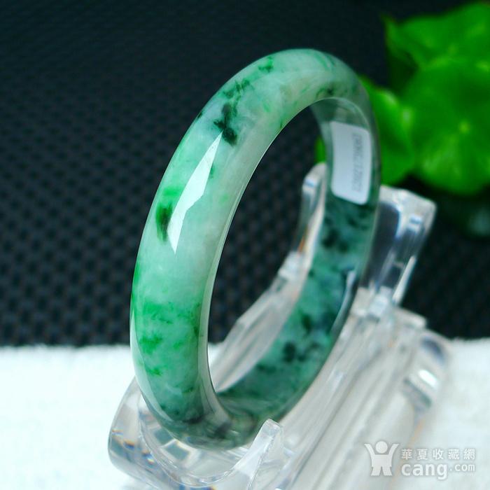 冰润满绿宽边手镯图8