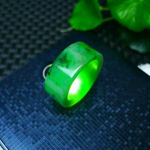 冰润满绿精美扳指