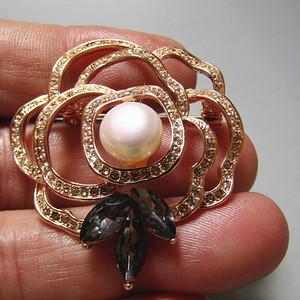 欧洲回流 珍珠 胸针 成熟 工艺非常好
