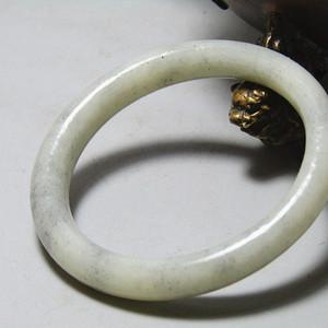 清和田青花玉 袈裟环 包浆醇厚