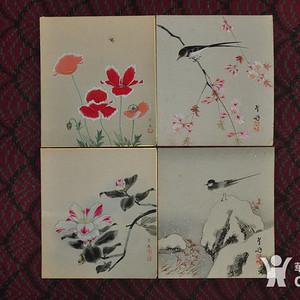 《日本花鸟画四幅》