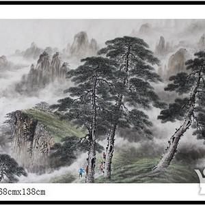 《黄山松云图》