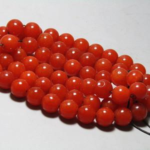 民国 鸽血红琉璃珠串 60多粒