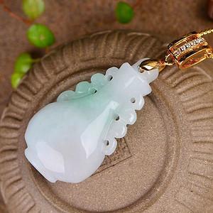美翡翠高漂绿瓶子吊坠