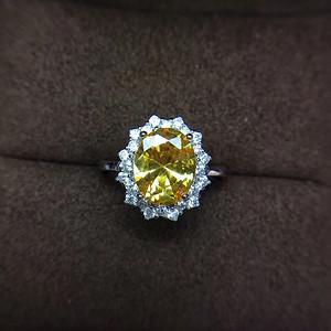 超美黄水晶戒指