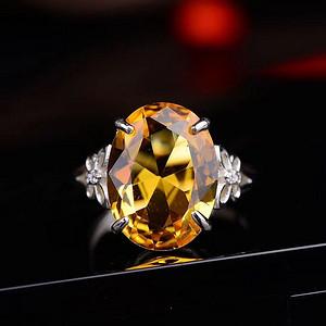 精美黄水晶戒指