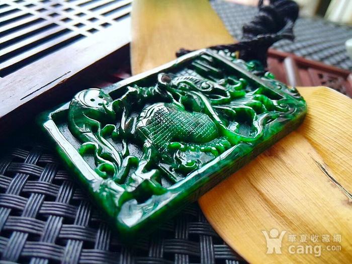 冰润满阳绿精雕飞龙在天吊坠图5