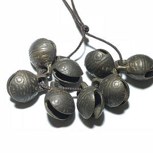 清 铜制 纱帘下的 虎头铃 过去大户人家之物 手工制作