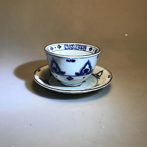 欧洲回流青花茶杯