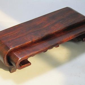 黄花梨 整块料一体雕刻 文玩木托 抽拉式两件套