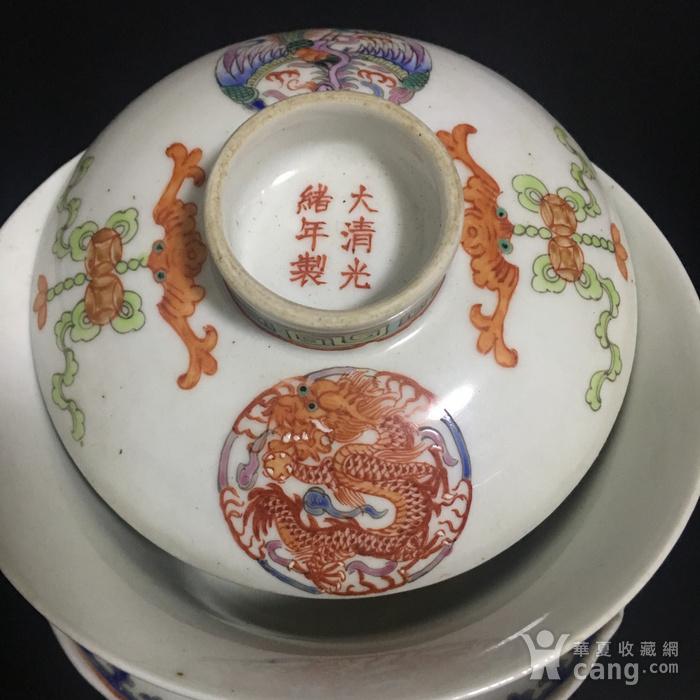 龙凤茶碗一对图4