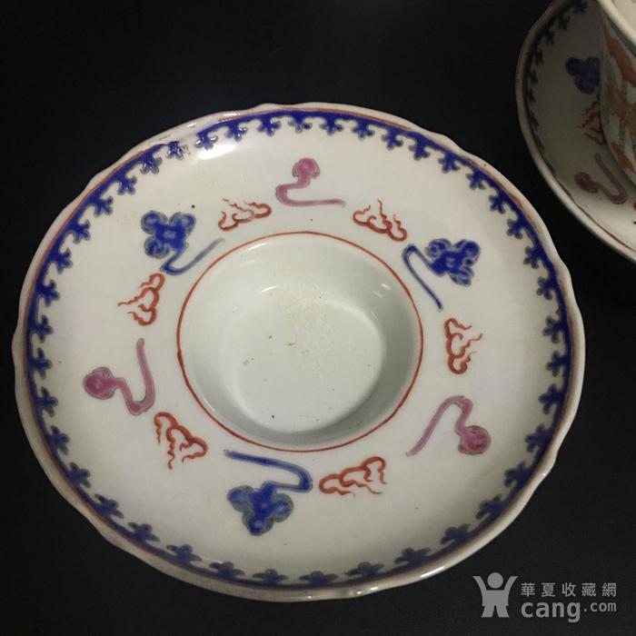 龙凤茶碗一对图5