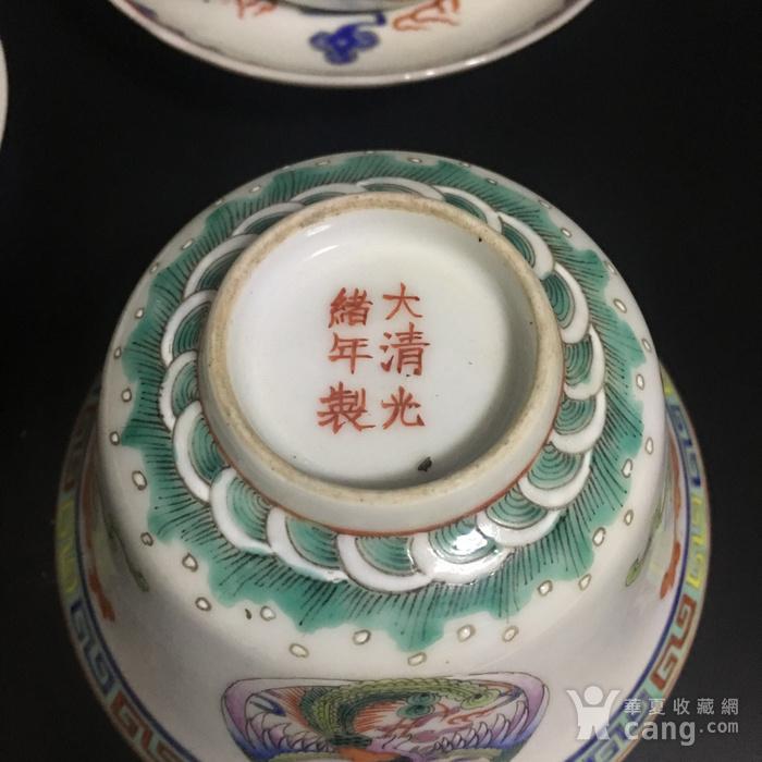 龙凤茶碗一对图7
