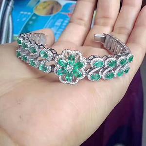 天然哥伦比亚祖母绿手表款手链