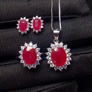 纯天然红宝石套装