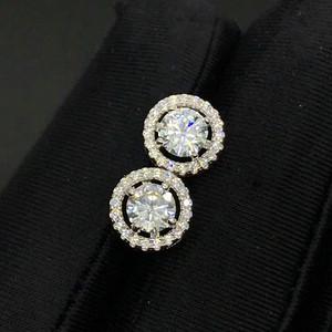 莫桑钻石经典耳钉