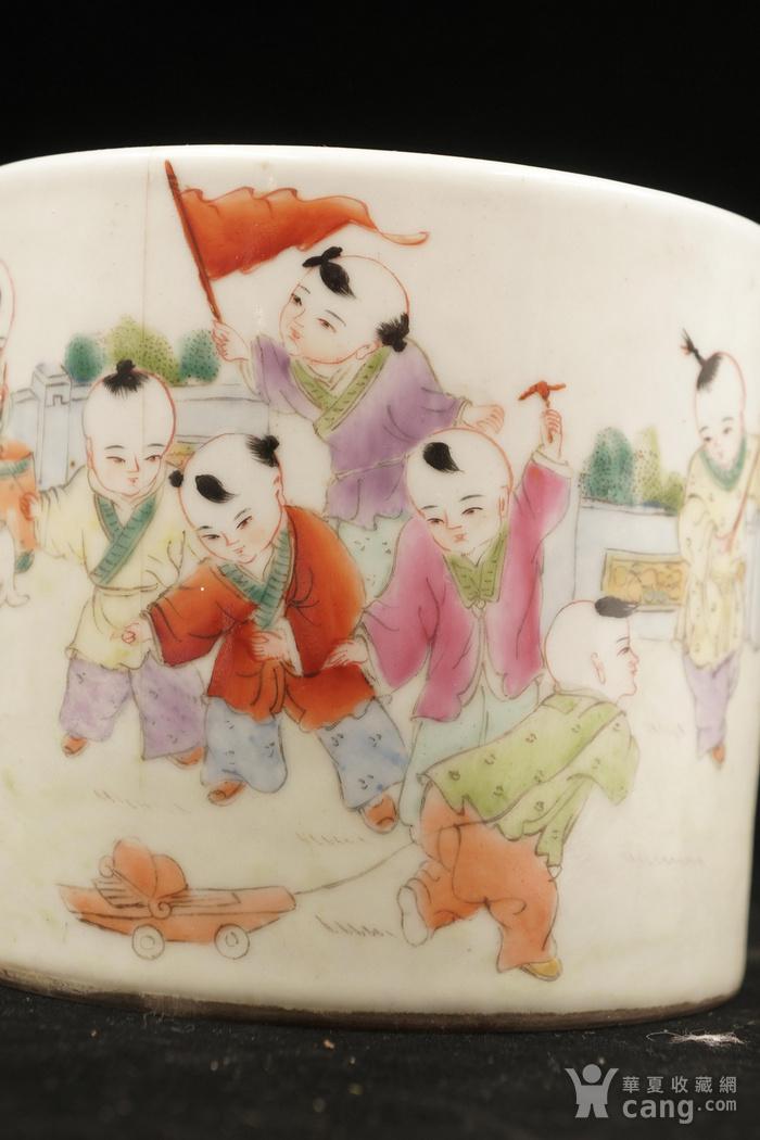 民国老瓷笔筒图5