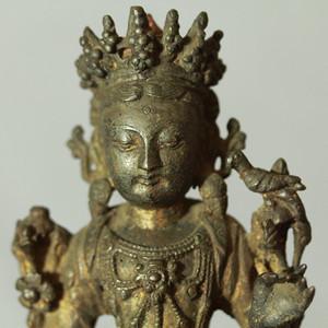 明代铜观音坐像
