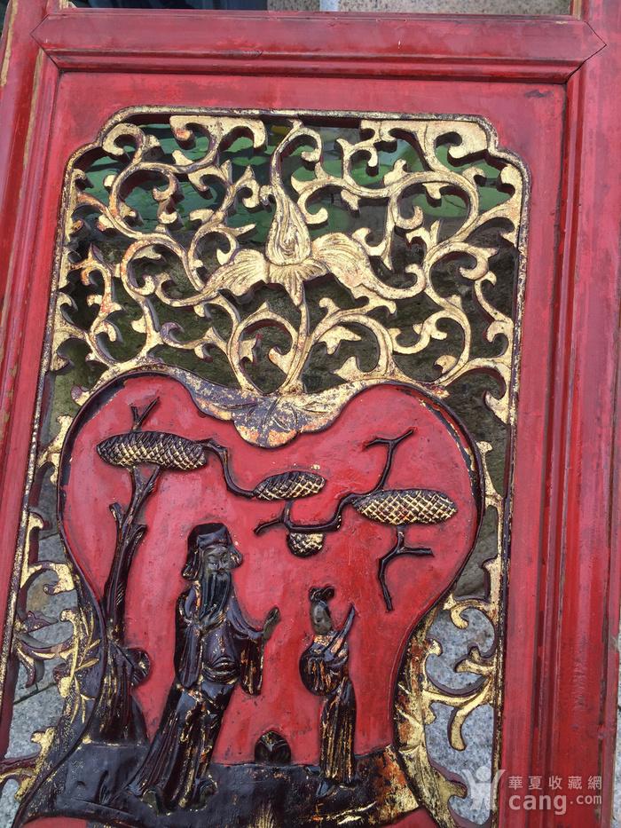 溜金木雕花板图4