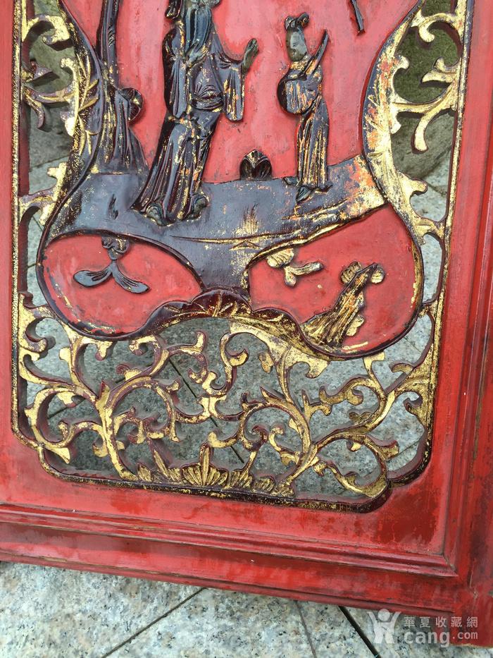 溜金木雕花板图5