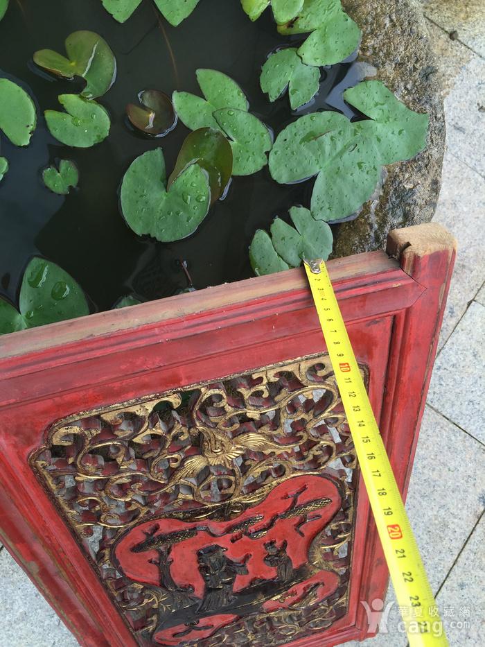 溜金木雕花板图7