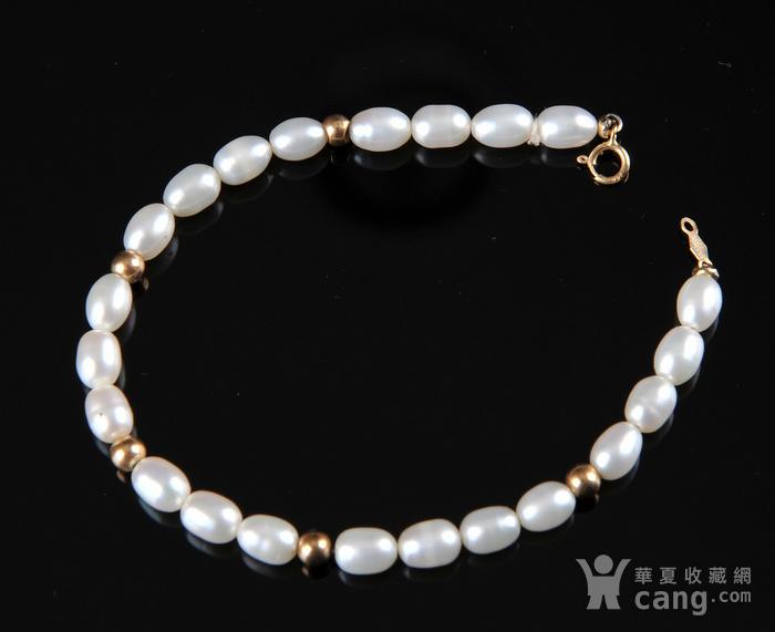 欧美回流 漂亮14K金珍珠手串图2