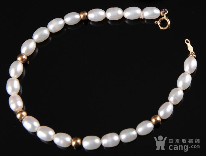 欧美回流 漂亮14K金珍珠手串图3