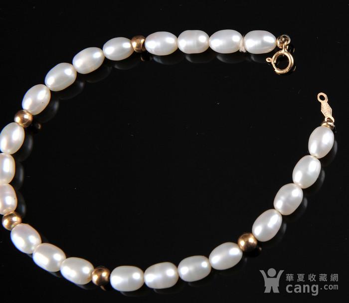 欧美回流 漂亮14K金珍珠手串图4