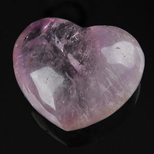 欧美回流 漂亮天然紫水晶心形纸镇