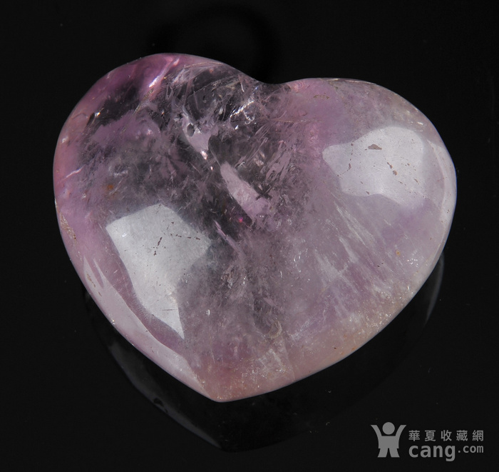 欧美回流 漂亮天然紫水晶心形纸镇图1