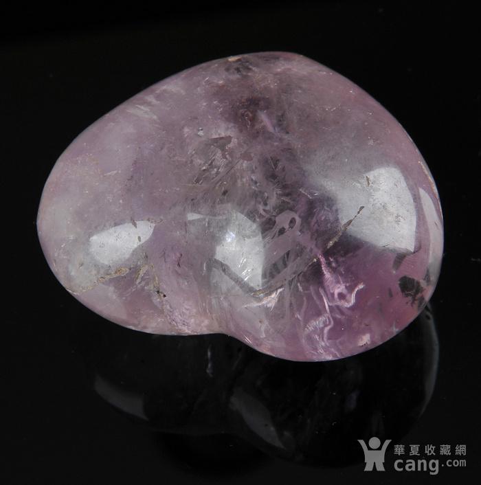 欧美回流 漂亮天然紫水晶心形纸镇图2