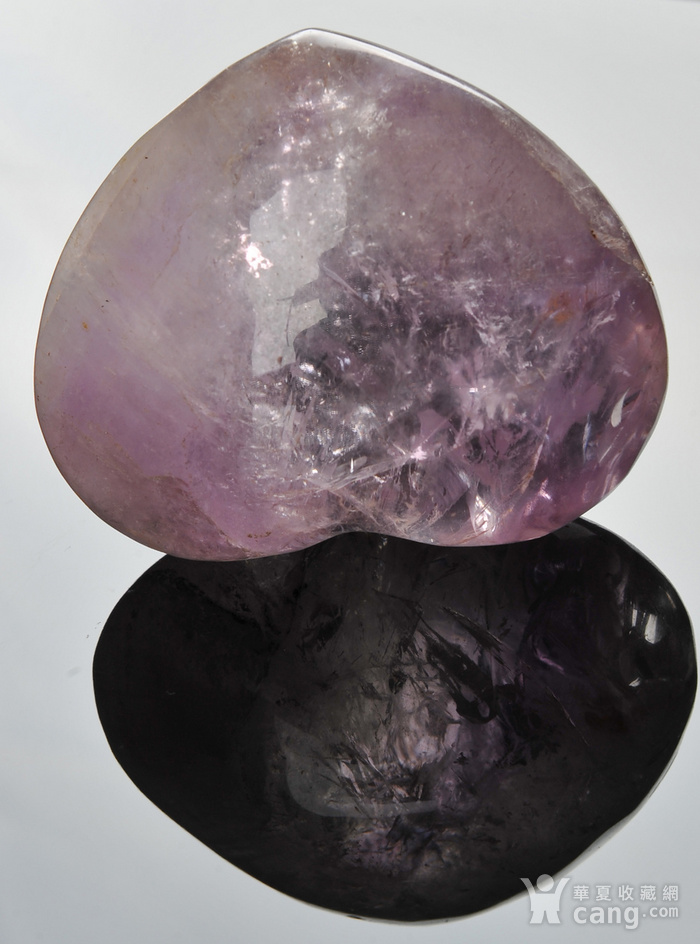 欧美回流 漂亮天然紫水晶心形纸镇图4