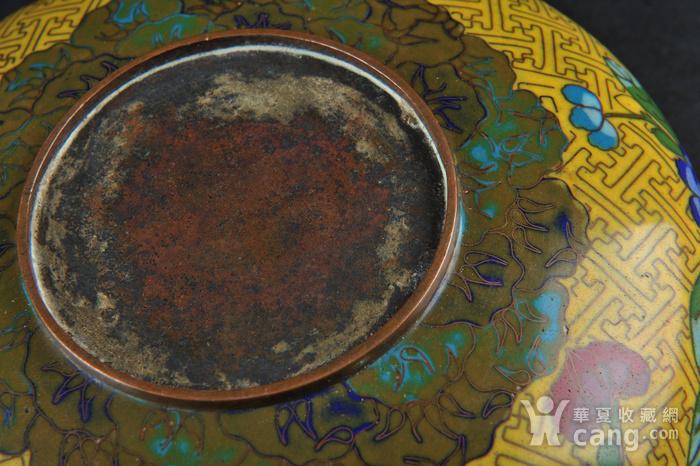 欧美回流 晚清民国铜胎掐丝珐琅花卉纹洗图8