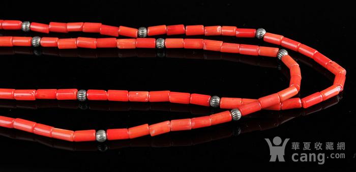 欧美回流 天然红珊瑚桶粒式项链图4